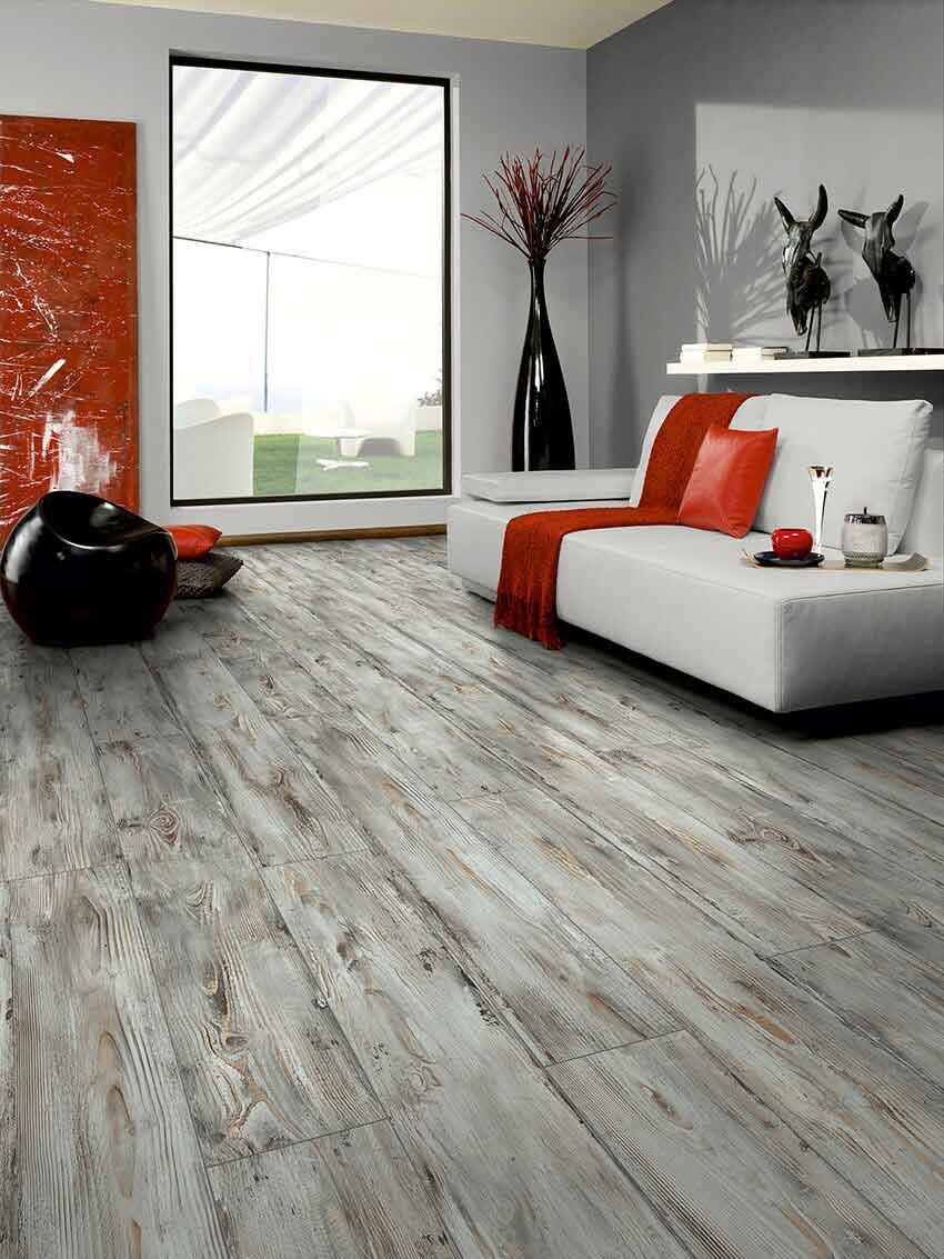 Grey tile laminate flooring