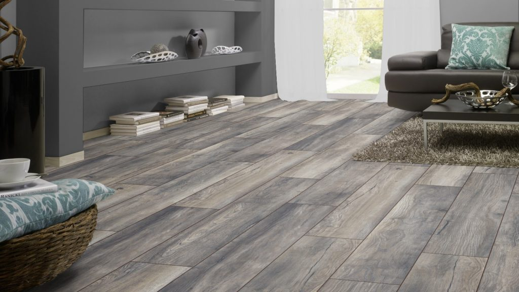 Ac4 8mm Harbour Oak Grey Wide Board Laminate Flooring
