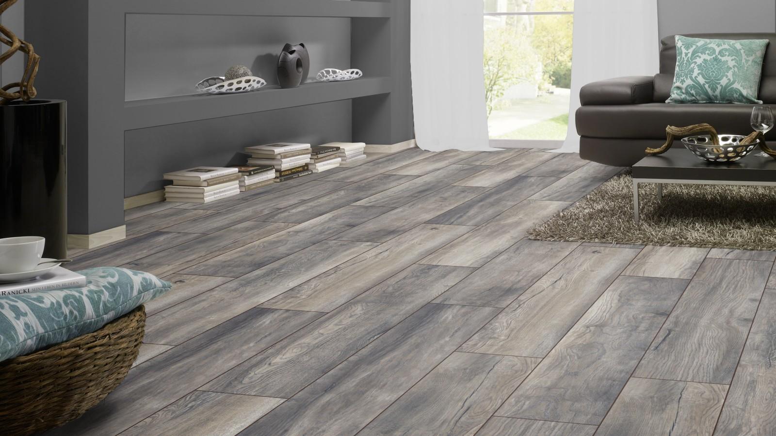 Ac4 8mm Harbour Oak Grey Wide Board Laminate Flooring