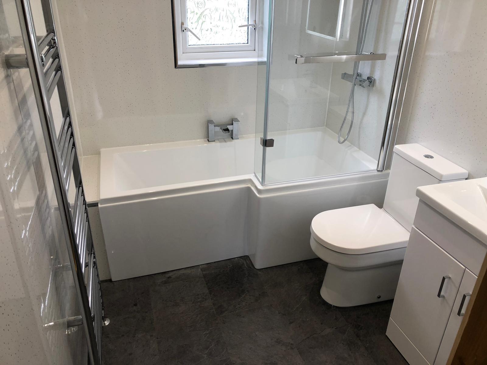 Bathroom refurbishment Belfast. PVC Panels. - Choice Interiors